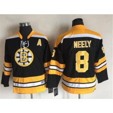 Boston Bruins #8 Cam Neely Black CCM Throwback Stitched Youth NHL Jersey