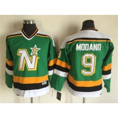Dallas Stars #9 Mike Modano Green CCM Throwback Stitched Youth NHL Jersey