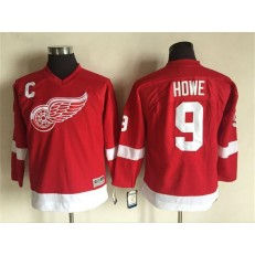 Detroit Red Wings #9 Gordie Howe Red CCM Stitched Youth NHL Jersey