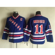 New York Rangers #11 Mark Messier Blue CCM Heroes of Hockey Alumni Stitched Youth NHL Jersey
