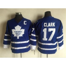 Toronto Maple Leafs #17 Wendel Clark Blue CCM Throwback Stitched Youth NHL Jersey