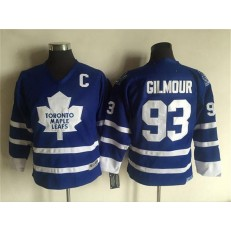 Toronto Maple Leafs #93 Doug Gilmour Blue CCM Throwback Stitched Youth NHL Jersey