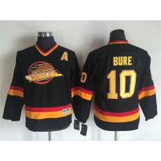 Vancouver Canucks #10 Pavel Bure Black Mitchell Ness Stitched Youth NHL Jersey