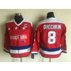 Washington Capitals #8 Alex Ovechkin Red Alternate CCM Throwback Stitched Youth NHL Jersey