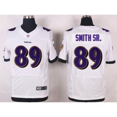 Baltimore Ravens 89 Steve Smith SR Elite White Nike NFL Jersey