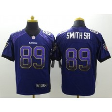 Baltimore Ravens 89 Steve Smith SR Purple Team Color Elite Drift Fashion Nike Stitched NFL Jersey