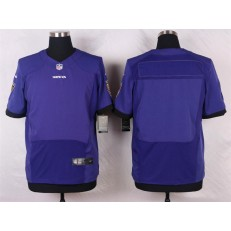 Baltimore Ravens Blank Elite Purple Team Color Nike NFL Jersey