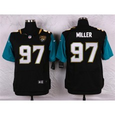 Jacksonville Jaguars #97 Roy Miller Elite Black Alternate Men Nike NFL Jersey