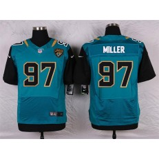Jacksonville Jaguars #97 Roy Miller Elite Teal Green Team Color Men Nike NFL Jersey