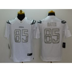San Diego Chargers #85 Antonio Gates White Men Stitched Nike NFL Limited Platinum Jersey (1)