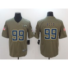 San Diego Chargers #99 Joey Bosa Olive 2017 Salute To Service Limited Men Nike NFL Jersey