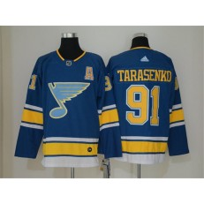 St.Louis Blues #91 Vladimir Tarasenko Blue Alternate Adidas NHL Men Jersey