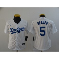 Los Angeles Dodgers #5 Corey Seager White Women 2020 Nike Cool Base Jersey