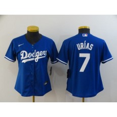 Los Angeles Dodgers #7 Julio Urias Royal Women 2020 Nike Cool Base Jersey